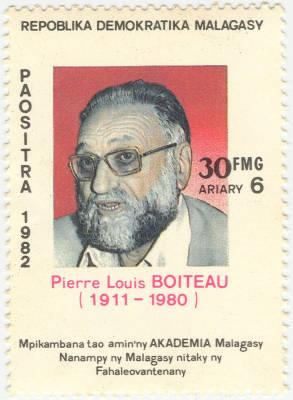 Timbre poste à l'effigie de Pierre Boiteau