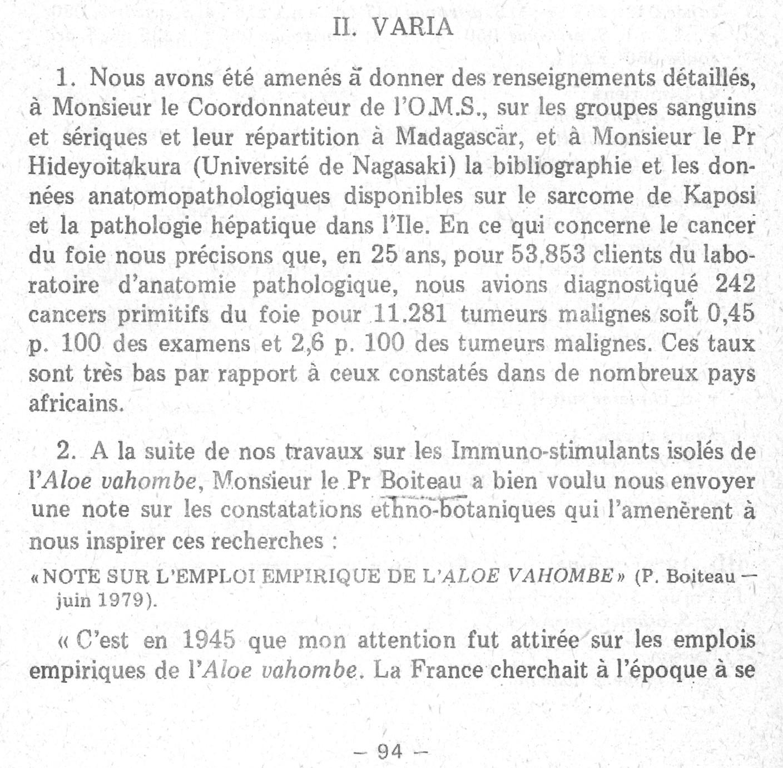 Rapport sur le fonctionnement de l'Institut Pasteur de Madagascar en 1979 page 94