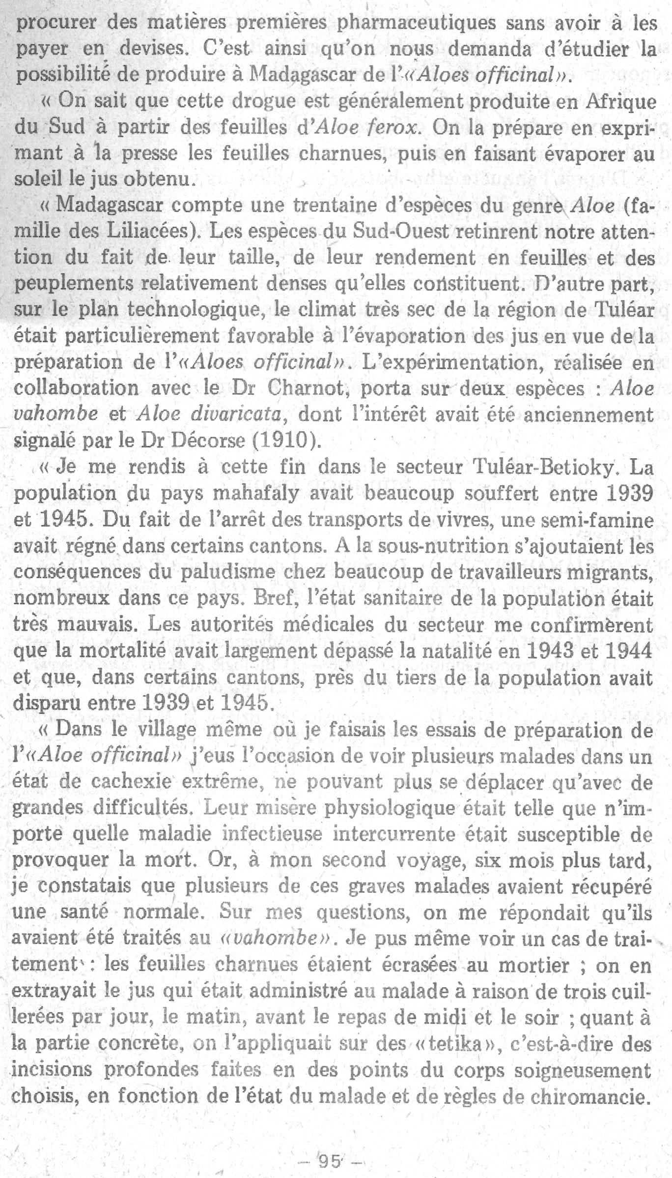 Rapport sur le fonctionnement de l'Institut Pasteur de Madagascar en 1979 page 95